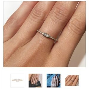 LUNA SKYE 14k rose gold baguette ring